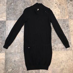 Lacoste wool long sleeve dress